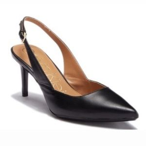 Calvin Klein Giona Nappa Leather Slingback Pump